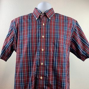 Brooks Brothers Men Button Front Casual Shirt Sz M